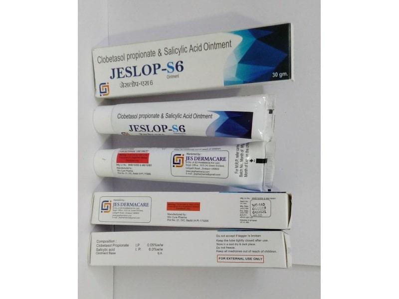 Jeslop-S6-Ointment-Clobetasol-Propionate-Salicylic-Acid-Ointment-Jes-Pharmacia