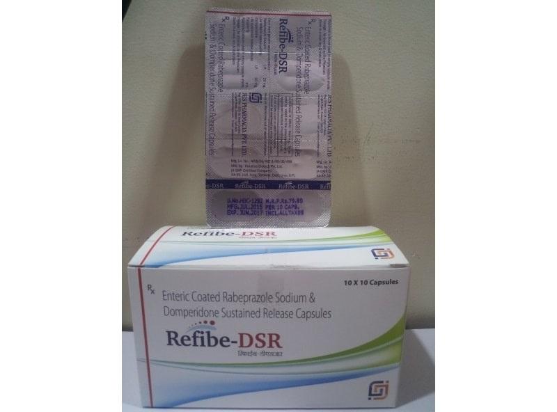 REFIBE-DSR-Enteric-Coated-Rabeprazole-Sodium-Domperidone-Sustained-Release-Capsules-Jes-Pharmacia
