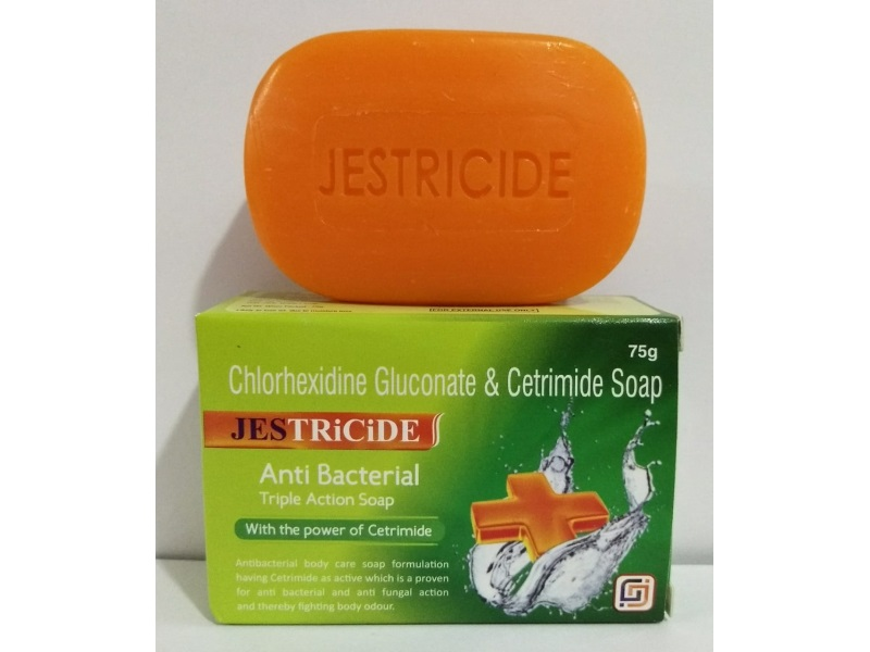 JesTricide-Anti-Bacterial-Triple-Action-Soap-with-the-power-of-Cetrimide-Chlorhexidine-Gluconate-Cetrimide-Soap-75gm-Jes-Dermacare-Jes-Pharmacia-Pvt-Ltd