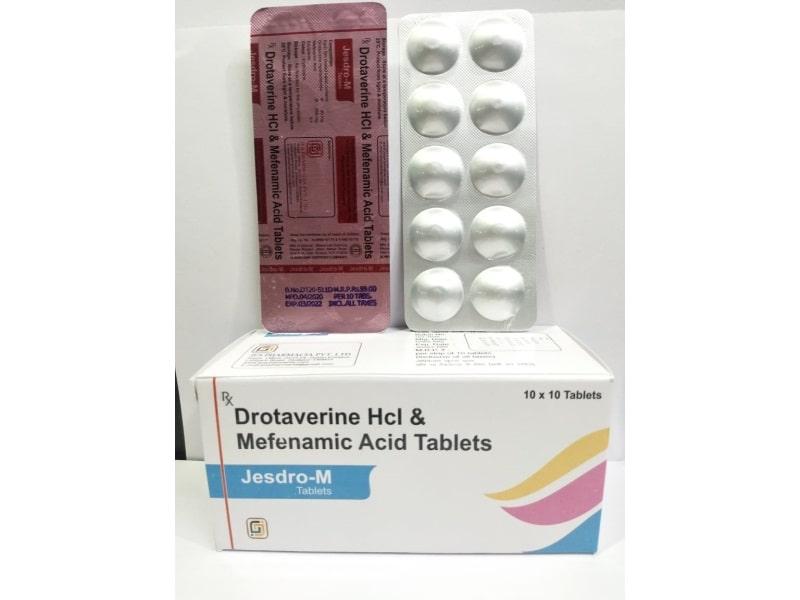 Jesdro-M-Tablets-Drotaverine-Hcl-Mefenamic-Acid-Tablets-Jes-Pharmacia-Private-Limited