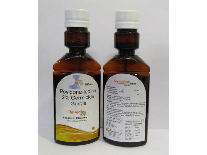 Rinsedine-Gargle-100ml-Povidone-Iodine-2%-Germicide-Gargle-Jes-Pharmacia-Private-Limited
